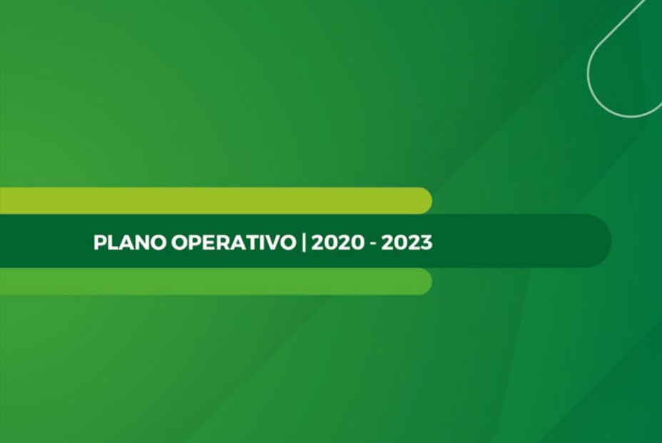 Trecho da capa do Plano Operativo | 2020-2023