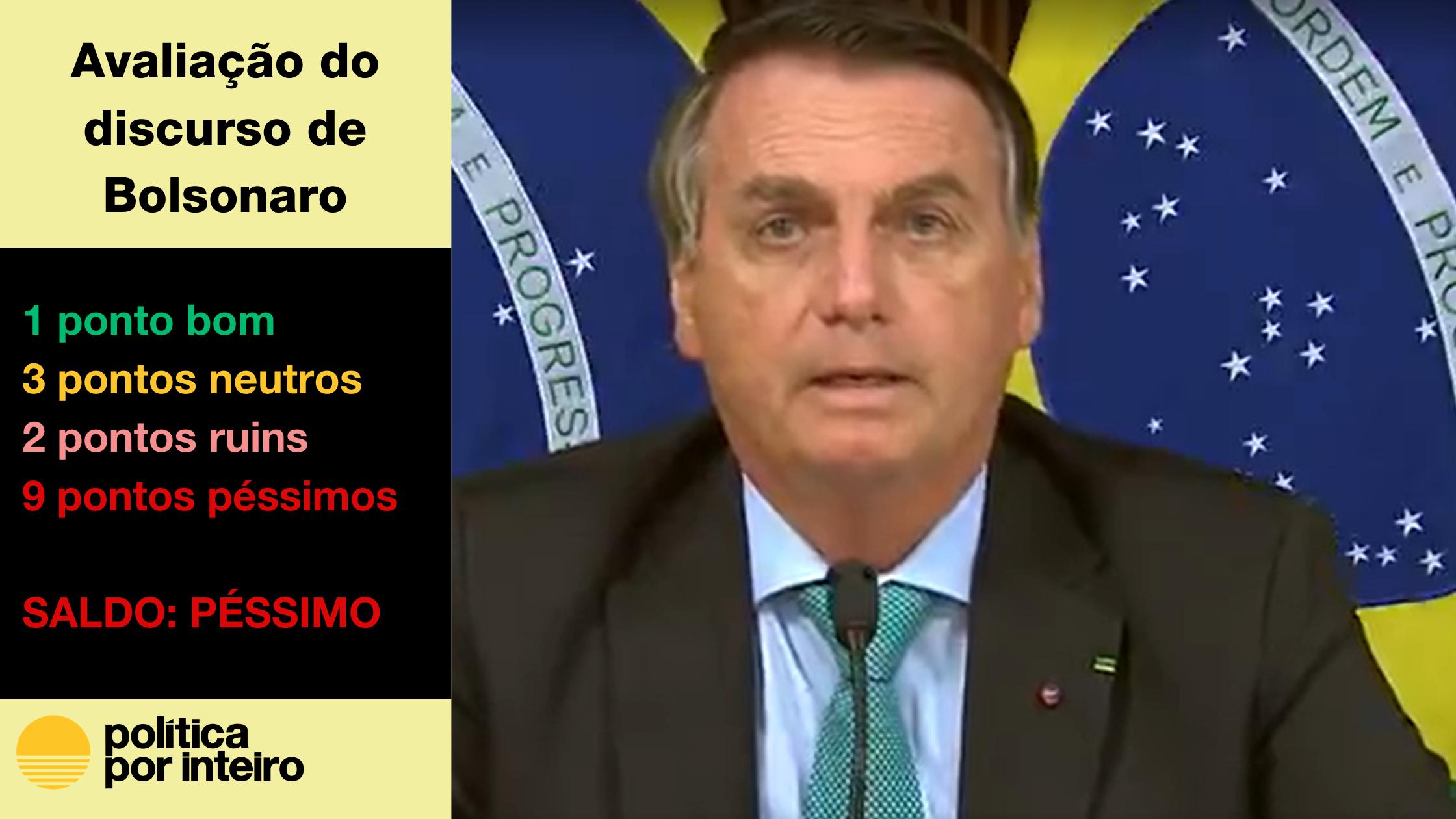 Imagem do presidente Bolsonaro discursando na Cúpula dos Líderes sobre Clima